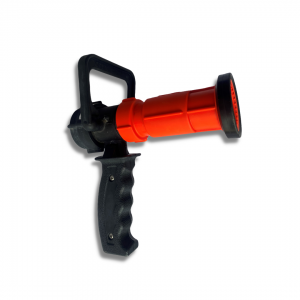 Nozzle for 1.0 Hose, Scotty, Pistol Grip, Bale On/Off, 15 to 50 GPM, Poly with NPSH Adapter