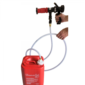 Scotty Thermo Gel Sprayer, 15 GPM, Pistol Grip, 1% Fixed Mix, 5 foot Suction Hose for 1 Gal and 5 Gal containers.  Includes 1.0″ NPSH fire hose adapter.