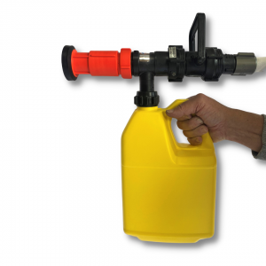 Scotty Thermo Gel Sprayer, 15 GPM, Pistol Grip, 1% Fixed Mix, Direct pull from 1 Gallon Jug.  Includes 1.0″ NPSH fire hose adapter.